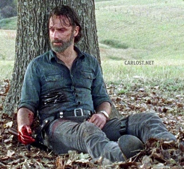 Spoilers The Walking Dead 8x16 - Rick sangrando