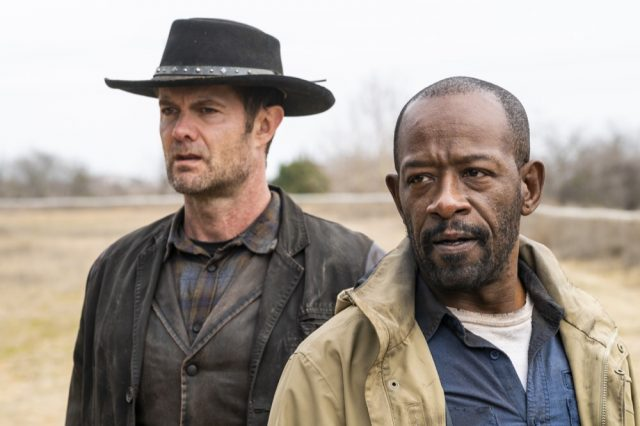 FearTWD 4x06 - Garret Dillahunt como John Dorie, y Lennie James como Morgan Jones