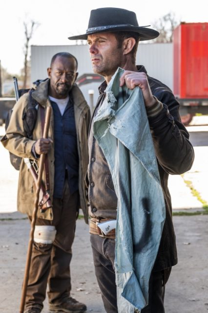 FearTWD 4x06 - Lennie James como Morgan Jones, Garret Dillahunt como John Dorie