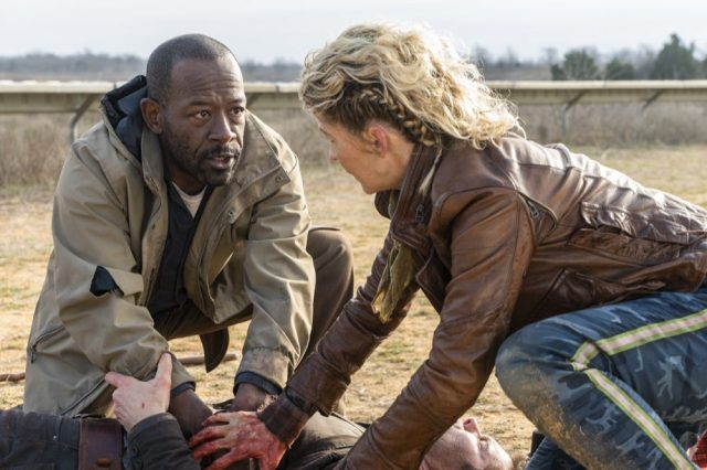 Fear the Walking Dead 4x07 - Lennie James como Morgan Jones,, Jenna Elfman como Naomi y Garret Dillahunt como John Dorie