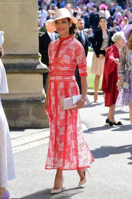 Gina Torres en la boda de Meghan Markle y el príncipe Harry