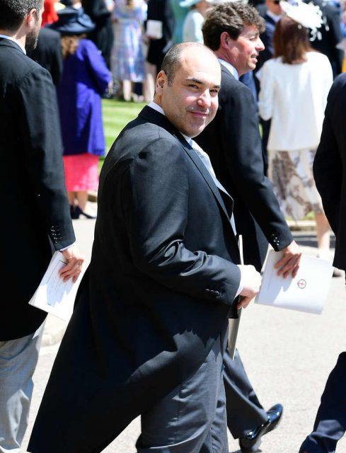 Rick Hoffman en la boda de Meghan Markle y el príncipe Harry