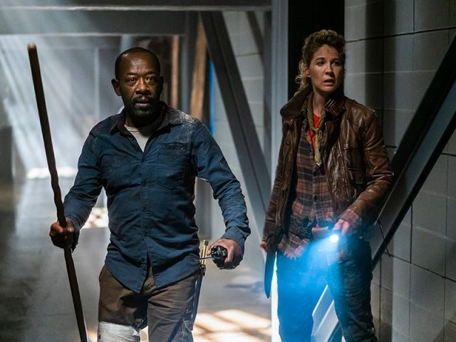 Fear The Walking Dead 4x08 - Lennie James como Morgan y Jenna Elfman como Naomi