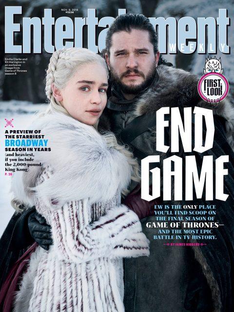 Emilia Clarke y Kit Harington en la portada de EW (Noviembre 2018)