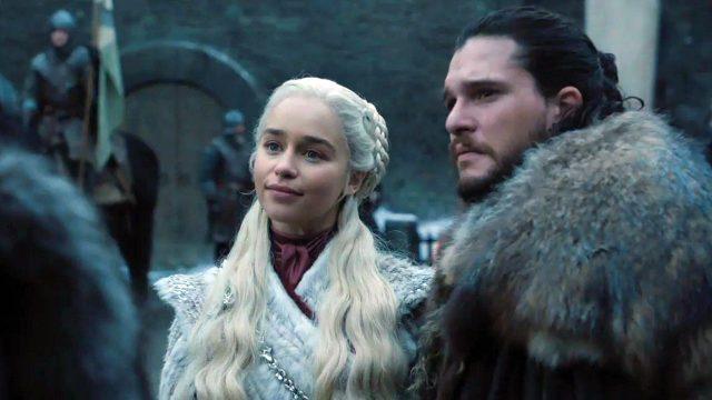 Daenerys y Jon en la temporada final de Game of Thrones