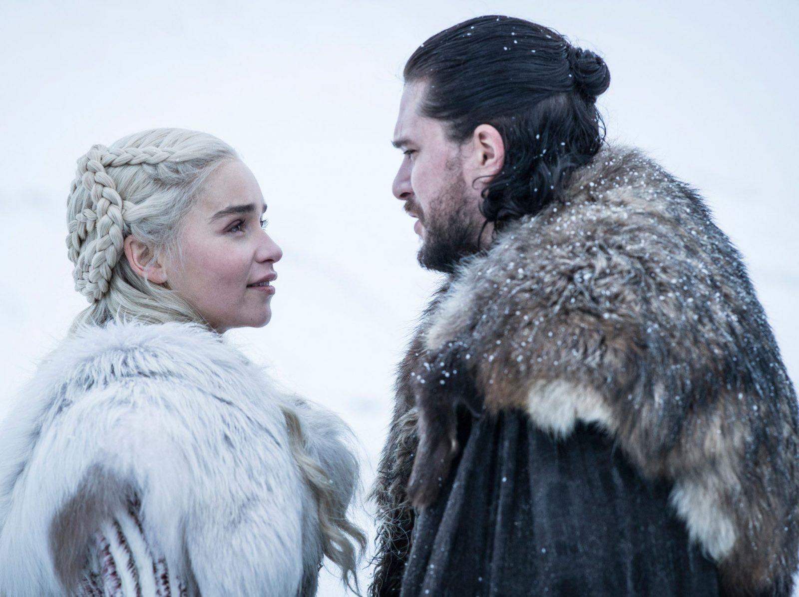 Daenerys Targaryen y Jon Snow en la octava temporada de Game of Thrones (Juego de tronos)
