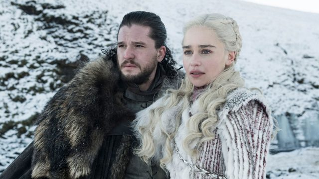 Jon Snow y Daenerys Targaryen en la octava temporada de Game of Thrones (Juego de tronos)