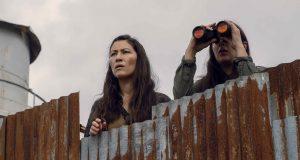Eleanor Matsuura como Yumiko y Alanna Masterson como Tara Chambler en The Walking Dead Temporada 9 Episodio 10