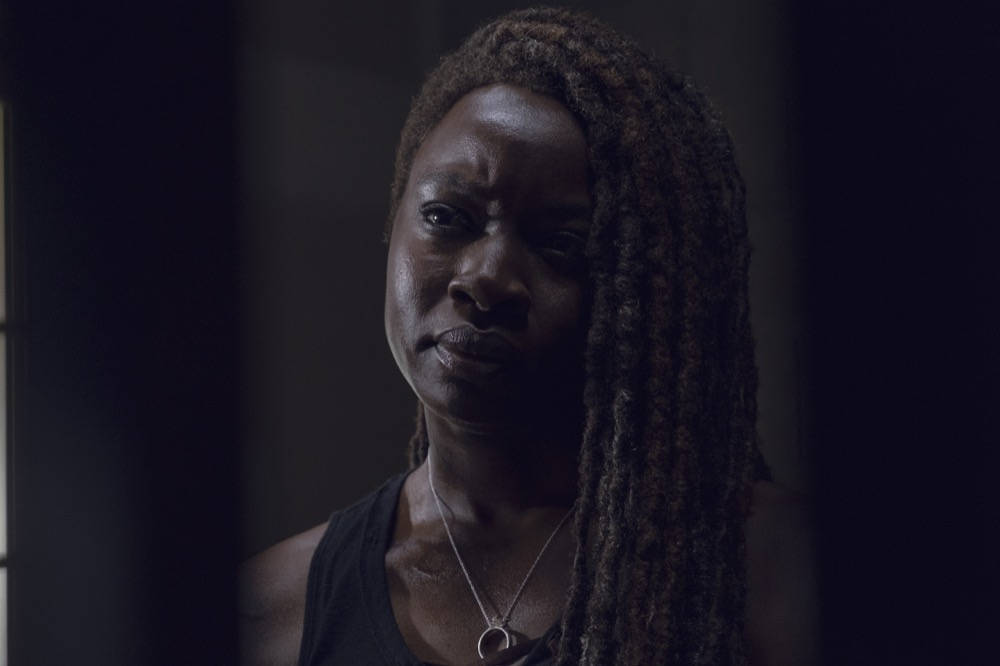 Danai Gurira como Michonne en The Walking Dead S09E12
