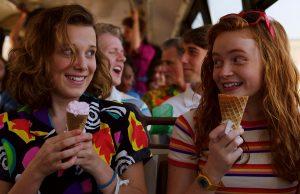 Eleven y Max en la tercera temporada de Stranger Things