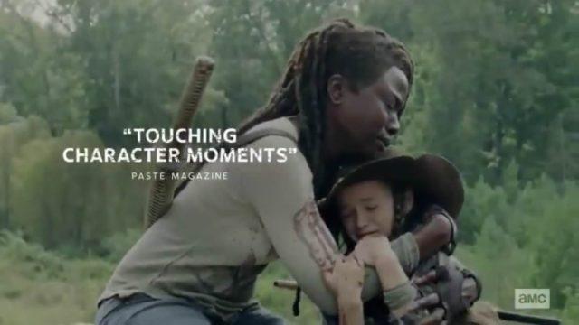 Spoiler TheWalking Dead 9x14 - Michonne llorando con Judith