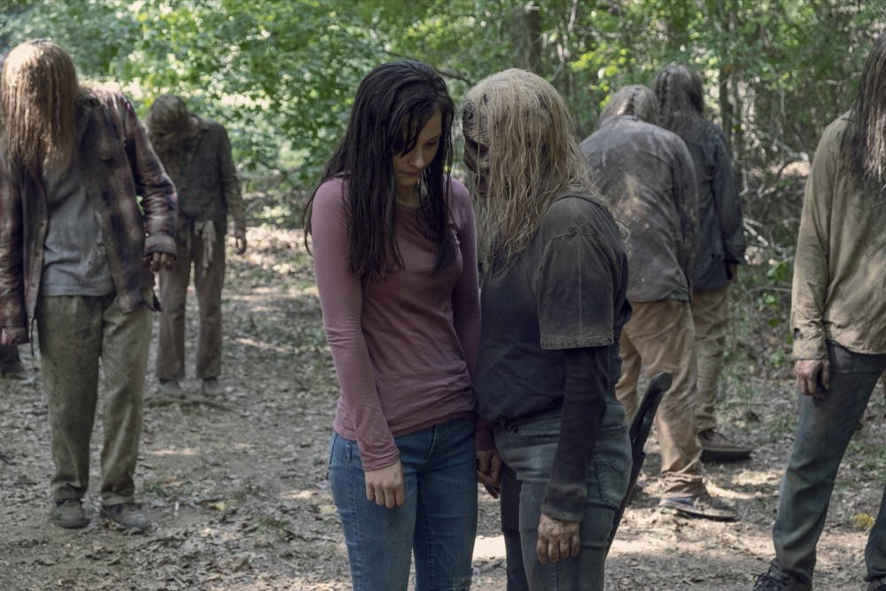 Lydia y su madre Alpha en The Walking Dead 9x12