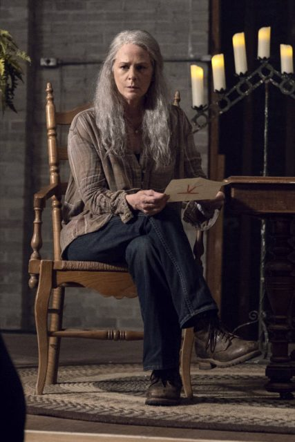 Melissa McBride como Carol en The Walking Dead 9x13