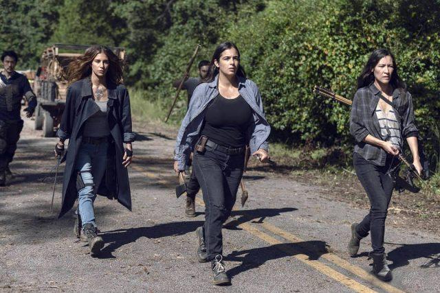 TWD 9x13 - Nadia Hilker como Magna, Alanna Masterson como Tara Chambler, y Eleanor Matsuura como Yumiko