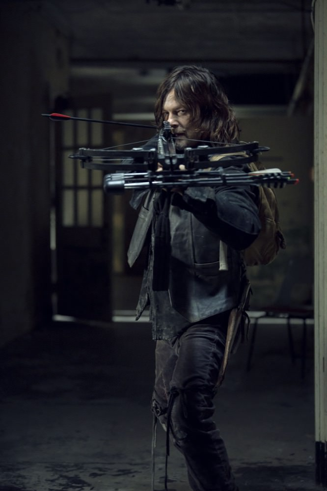 Norman Reedus como Daryl Dixon en The Walking Dead 9x14