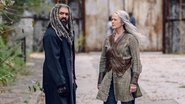 Khary Payton como Ezekiel y Melissa McBride como Carol Peletieren The Walking Dead 9x15