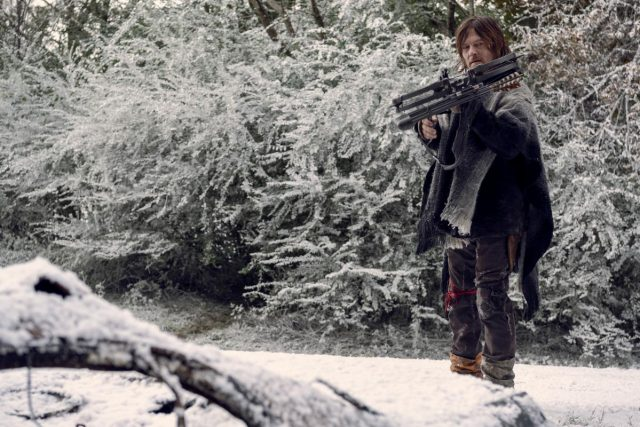 Norman Reedus como Daryl Dixonen The Walking Dead Temporada 9 Episodio 16