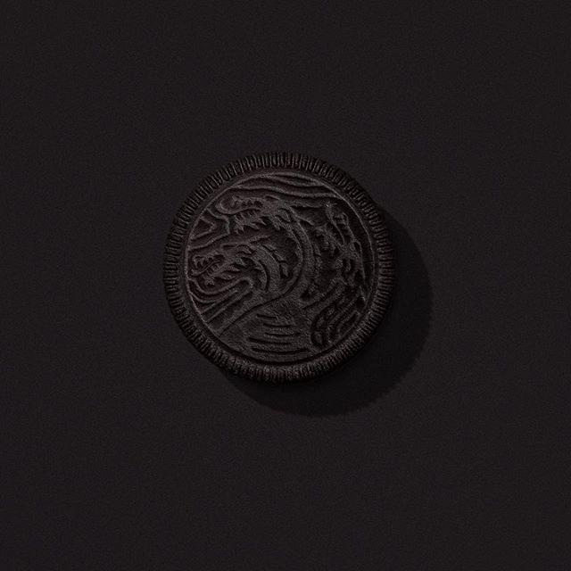 Galletas Oreo de Game of Thrones (Juego de Tronos), versión Casa Targaryen