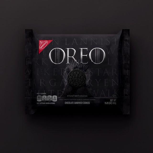 Envase de las galletas Oreo de Game of Thrones (Juego de Tronos)