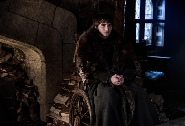 Isaac Hempstead Wright como Brann Stark en GOT 8x02