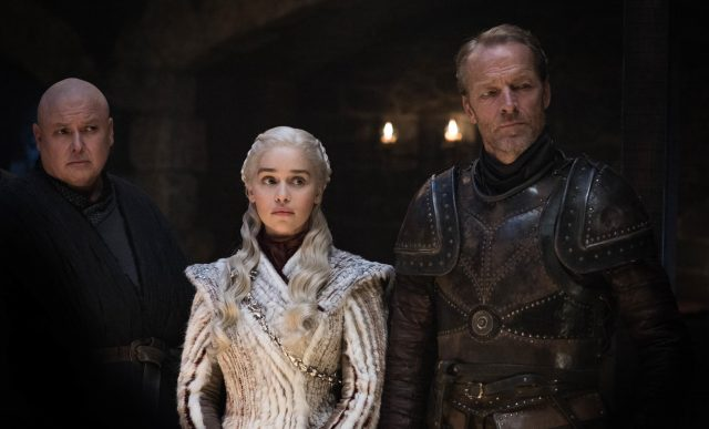 Varys, Daenerys y Jorah en el episodio 2 de la octava temporada de Game of Thrones