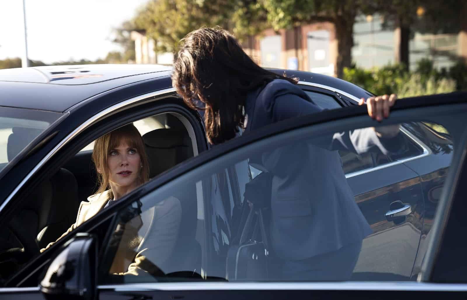 Nicole Kidman como Celeste y Poorna Jagannathan como Katie en BLL 2x06