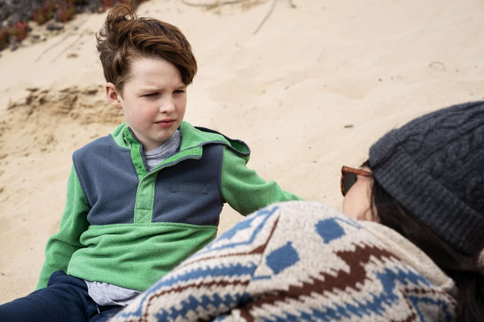 Iain Armitage como Ziggy y Shailene Woodley como Jane en Big Little Lies 2x07