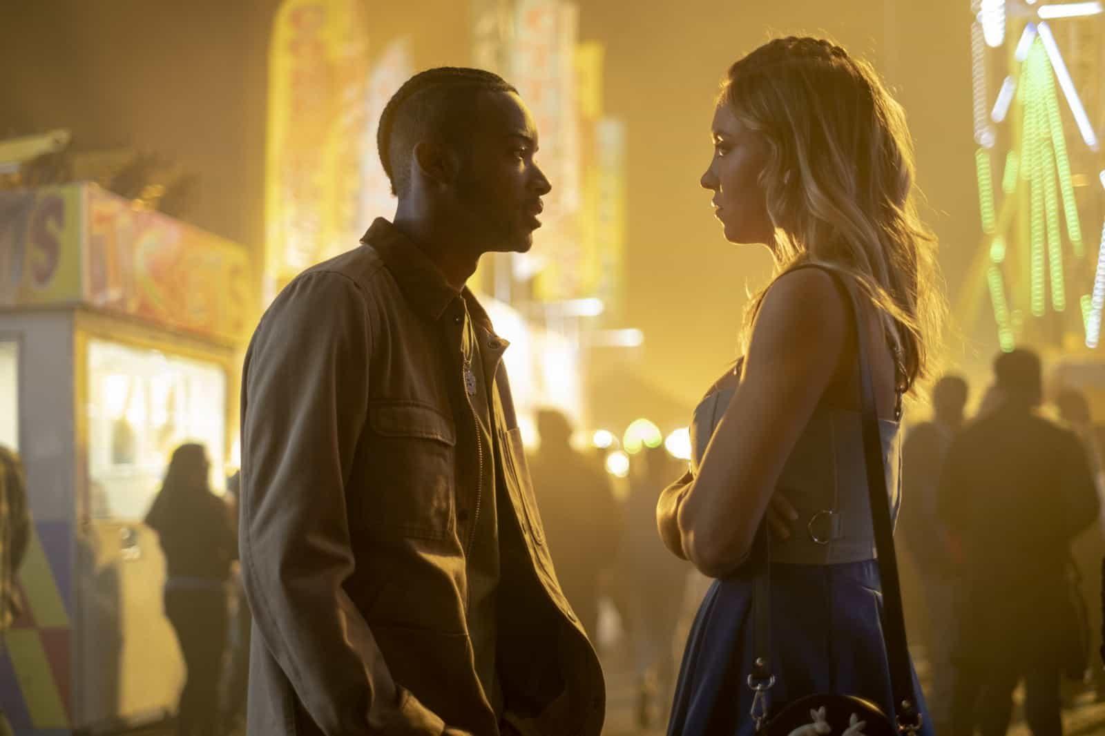 McKay (Algee Smith) y Cassie (Sydney Sweeney) en Euphoria 1x04