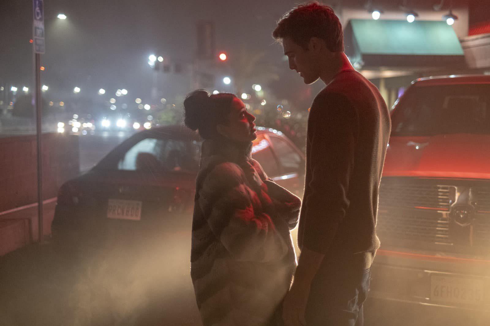 Maddy (Alexa Demie) y Nate (Jacob Elordi) en Euphoria S1E5