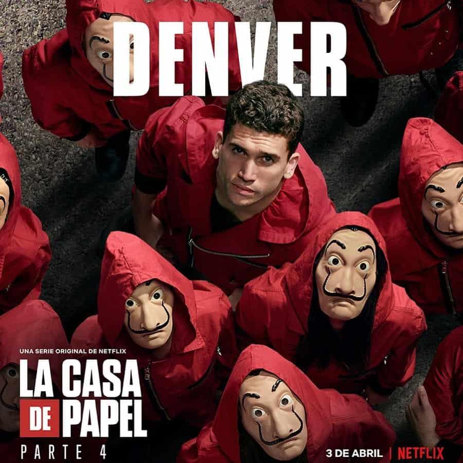 Jaime Lorente (Denver) en La Casa de Papel 4