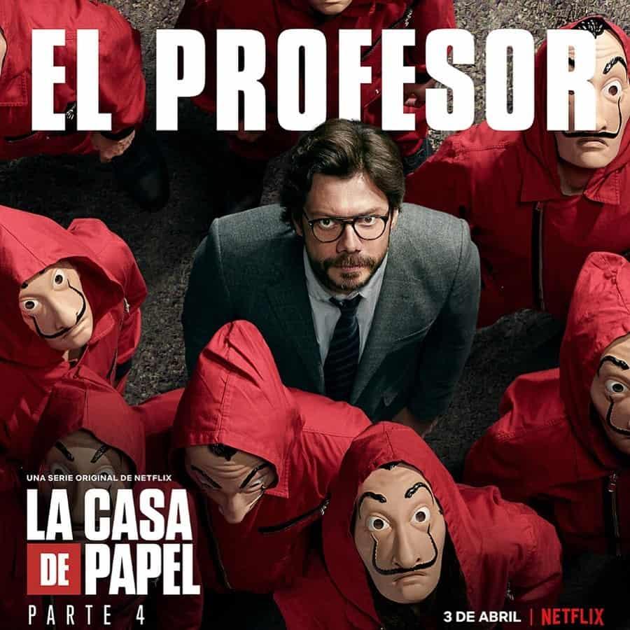 Álvaro Morte (El Profesor) en La Casa de Papel 4