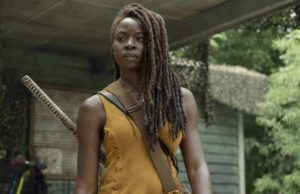 Danai Gurira como Michonne en The Walking Dead 10x13