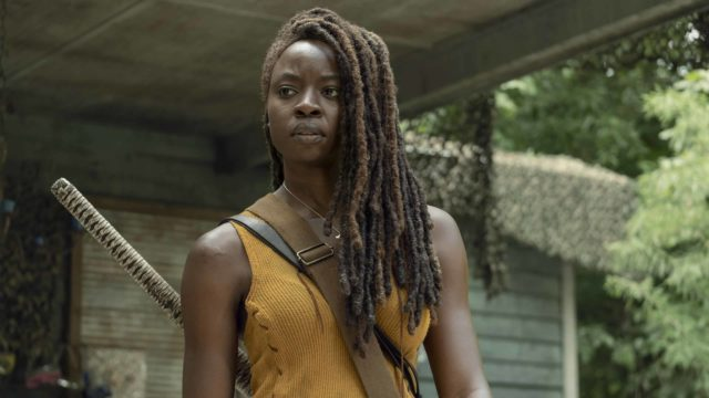 Danai Gurira como Michonne en The Walking Dead 10x13