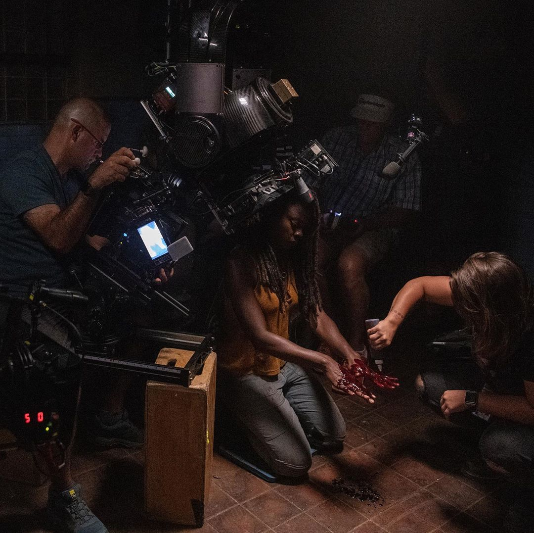 Danai Gurira (Michonne) en una de las escenas de The Walking Dead 10x13