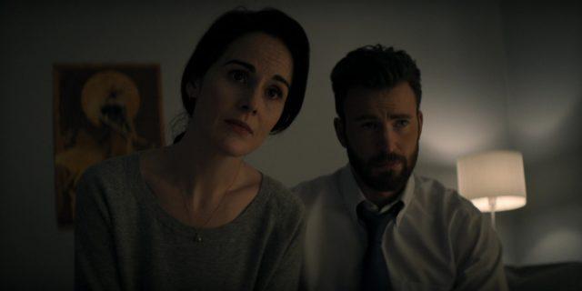 Michelle Dockery y Chris Evans en Defending Jacob 1x01 (Apple TV+)