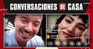 J Balvin y Úrsula Corberó en Instagram Live