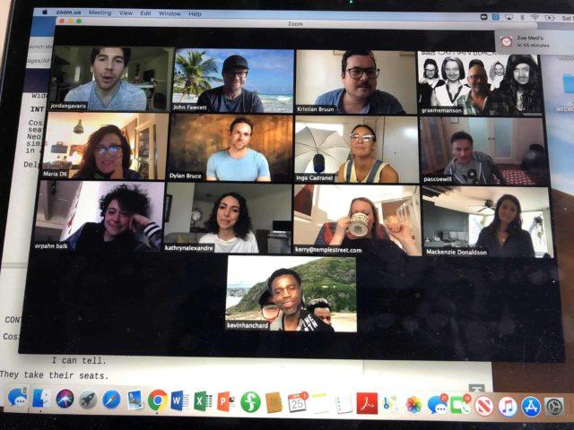 Videollamada por Zoom del equipo de Orphan Black