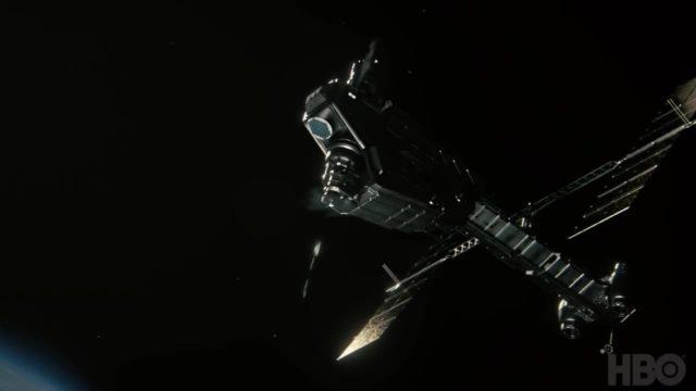 Misil espacial en Westworld Temporada 3 Episodio 7