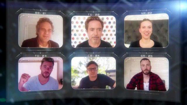 Elenco de Avengers reunidos por videollamada