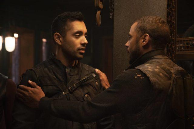 Sachin Sahel como Jackson y Jarod Joseph como Miller en The 100 7x4