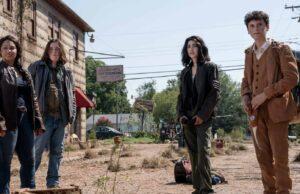 Iris, Silas, Hope y Elton en la primera temporada de TWD World Beyond