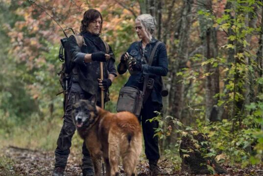 Daryl, Carol y Dog en The Walking Dead 10x18 Find Me