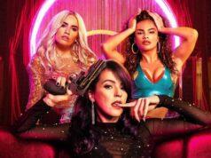 Wendy (Lali Espósito), Coral (Verónica Sánchez) y Gina (Yani Prado), las protagonistas de Sky Rojo