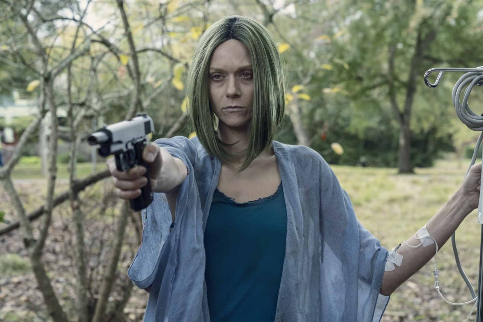 Hilarie Burton Morgan como Lucille en The Walking Dead 10x22 Here's Negan